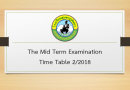 The Mid Term Examination Time Table 2/2018