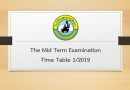 The Mid Term Examination Time Table 1/2019