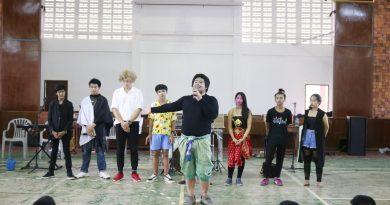 คณะละครมรดกใหม่ จัดแสดงละคร ให้ความรู้ความสนุกสนานกับนักเรียน
